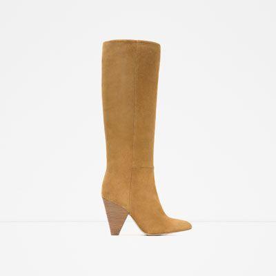 c1b11e07 ZARA - MUJER - BOTA PIEL CAMPERA | SHOPPING | Zapatos, Zapatos mujer ...