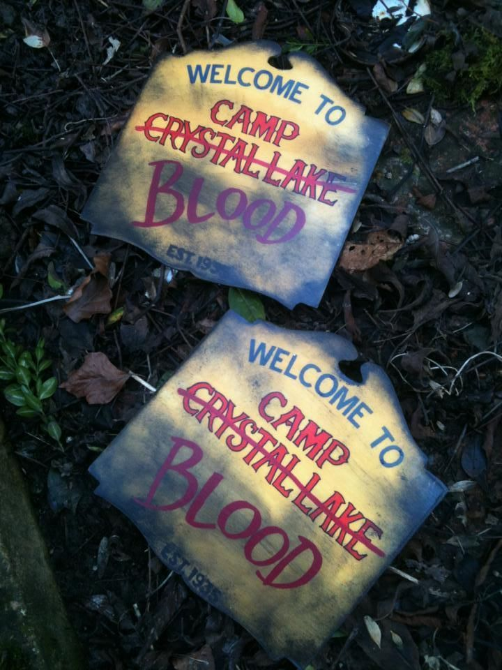 5c15c082d SMALL Friday 13th Jason Voorhees Camp Blood Crystal Lake Replica sign Hand  made