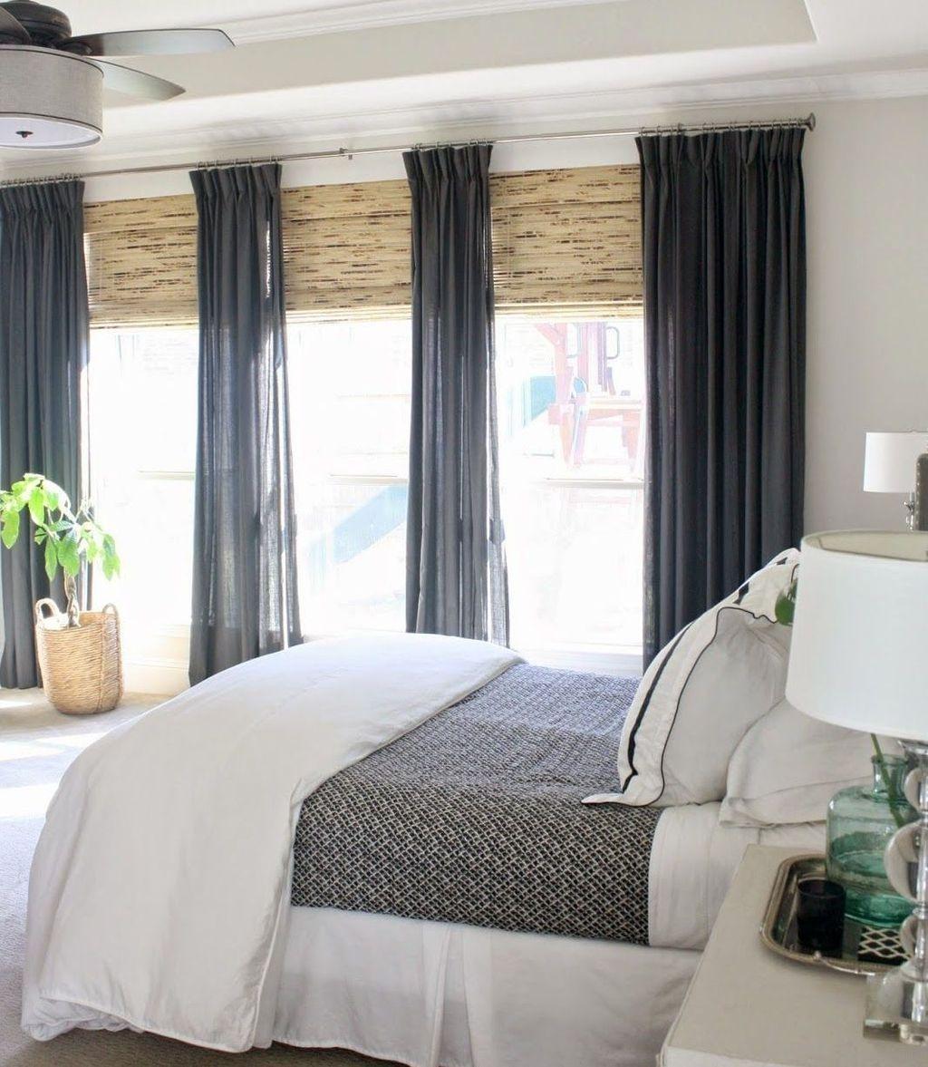 Awesome 47 Pretty Bedroom Window Ideas Window Treatments