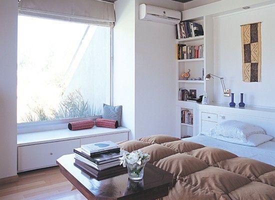 Mueble bajo ventana para zapatero cuarto mueble for Muebles bajos dormitorio para adultos
