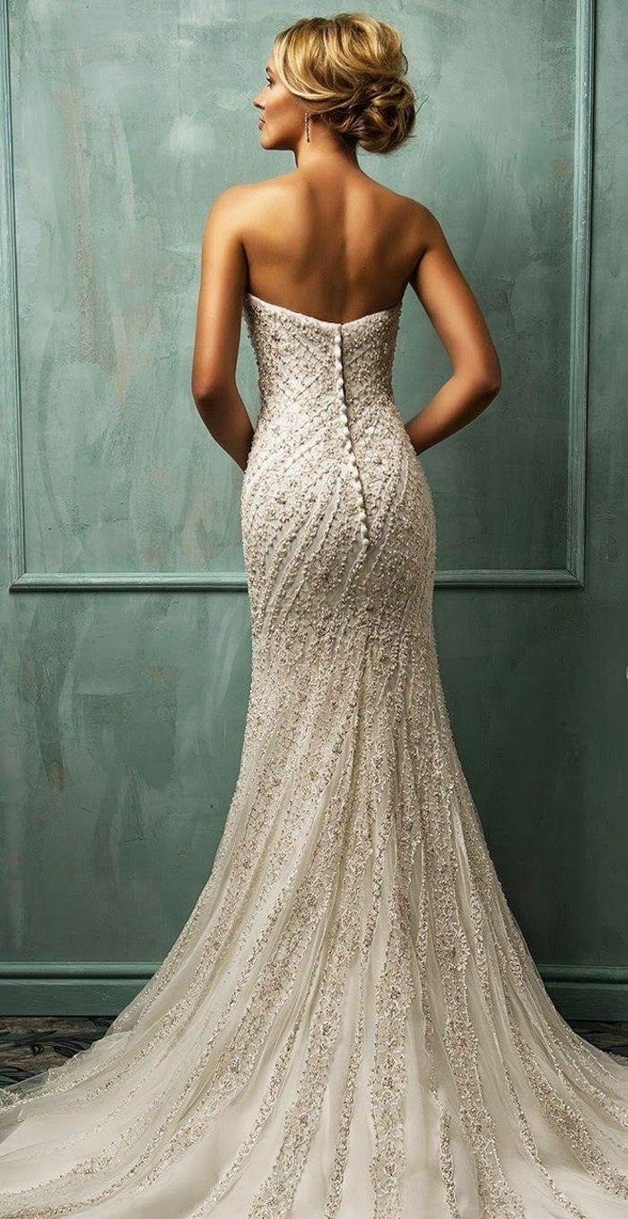Rückenfreie Hochzeitskleider liegen voll im Trend  Kleider