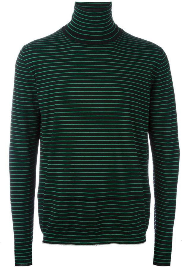 Lanvin striped turtle neck jumper | Mens Turtleneck Sweaters ...