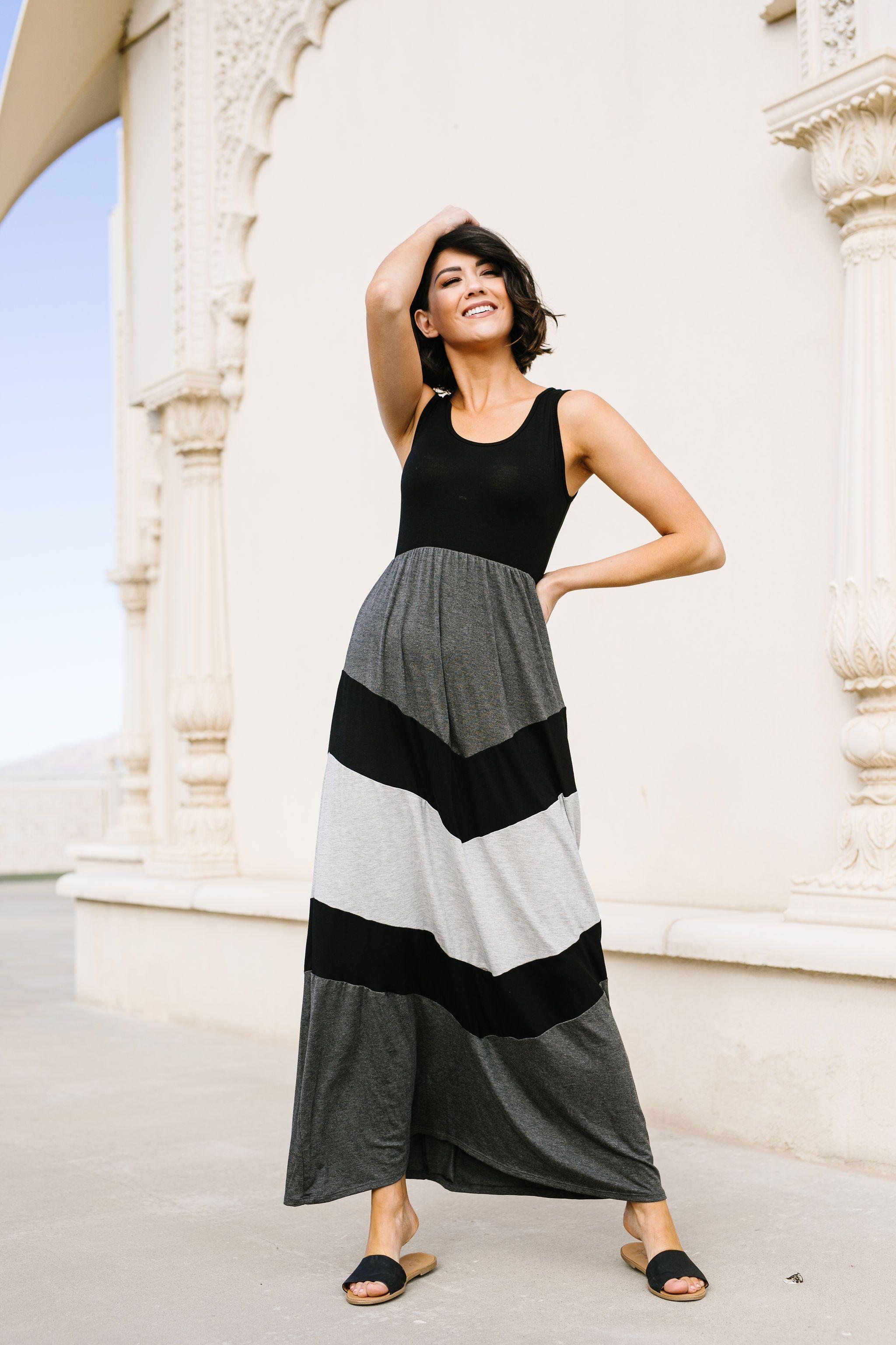 Chevron Skirt Tank Maxi Dress Medium In 2021 Maxi Tank Dress Color Block Skirt Chevron Skirt [ 3072 x 2048 Pixel ]