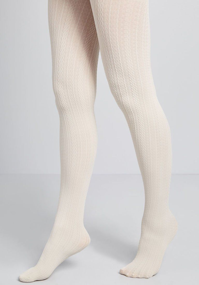9b3b6c926 Cable for Discussion Tights in Ivory
