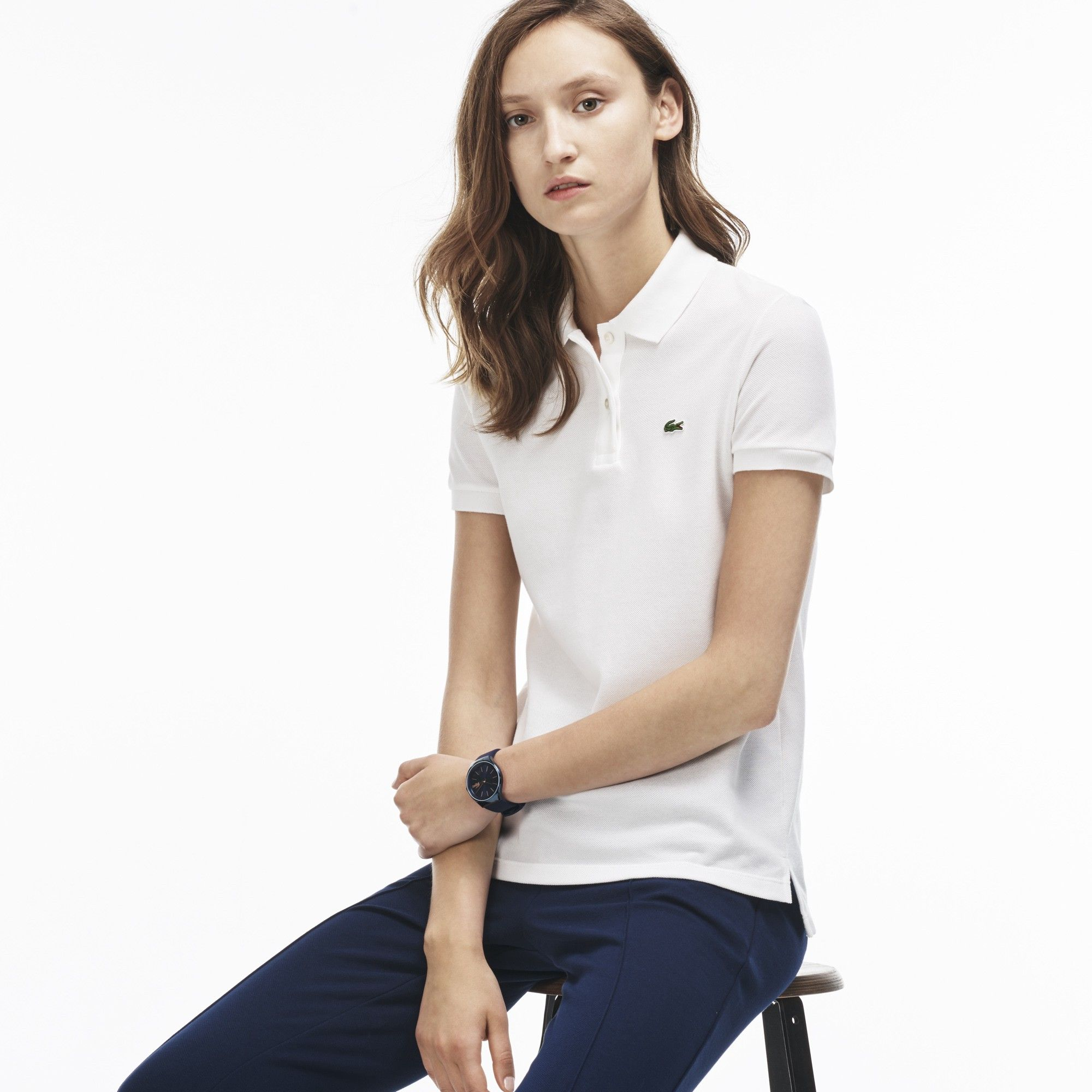 67e2a294 LACOSTE Women's Classic Fit Piqué Polo Shirt - white. #lacoste #cloth #