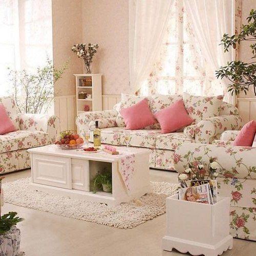 Resultado de imagen de salones romanticos en pastel - Decoracion de salones vintage ...