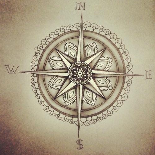 kompass filigran tattoo kompass tattoo kompass und. Black Bedroom Furniture Sets. Home Design Ideas