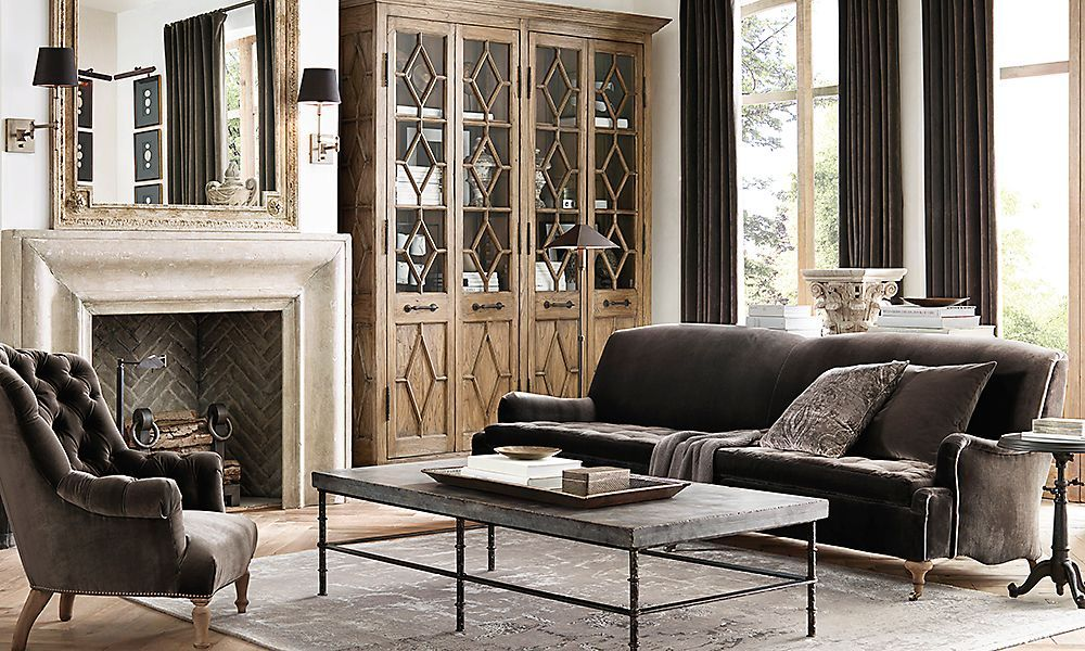 restoration hardware living room half moon tables furniture 20 amazing rooms inspired by family these are the perfect mix of class and relaxation