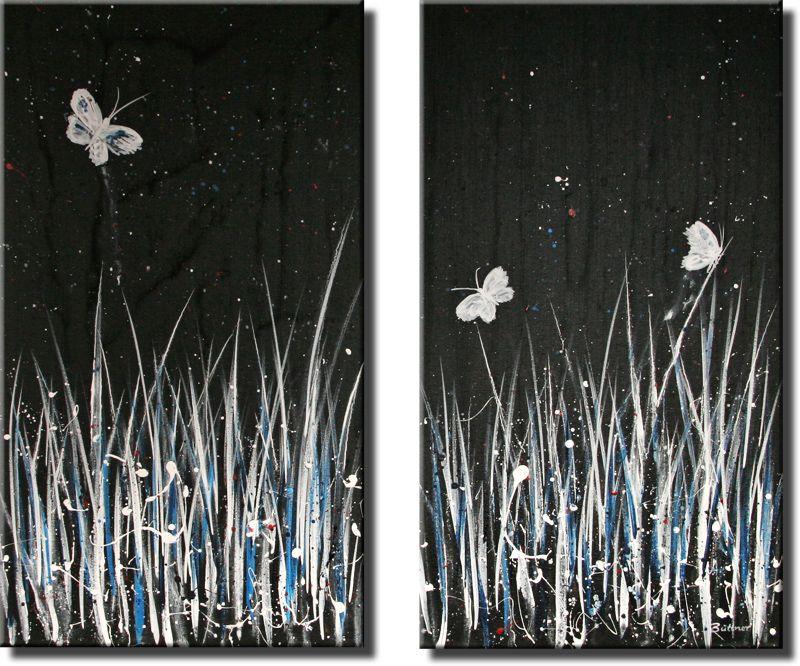 Schilderij Nachtflug, tweeluik van Buttner - Kunstvoorjou.nl