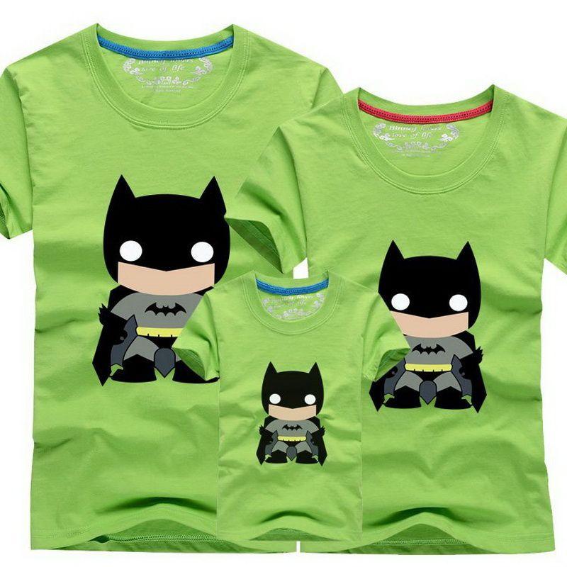 4cd66f86342 Encontrar Más Family Matching Outfits Información acerca de 1 unidades de  la familia camisetas Batman diseño