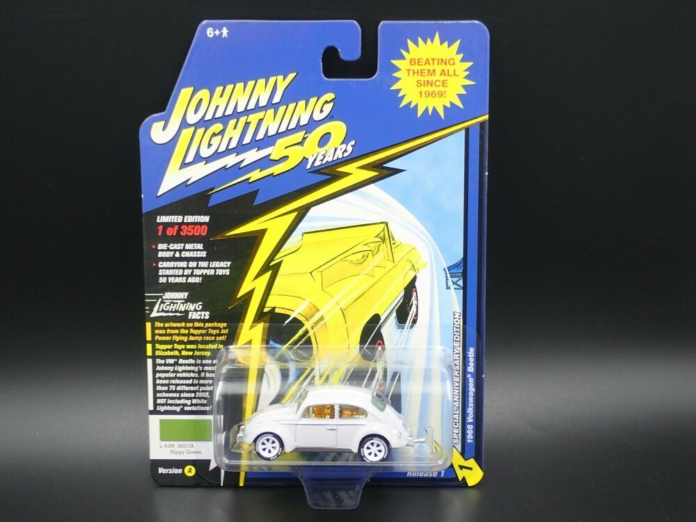 JOHNNY LIGHTNING 1966 VOLKSWAGEN BEETLE 50 YEARS SPECIAL ANNIVERSARY EDITION.
