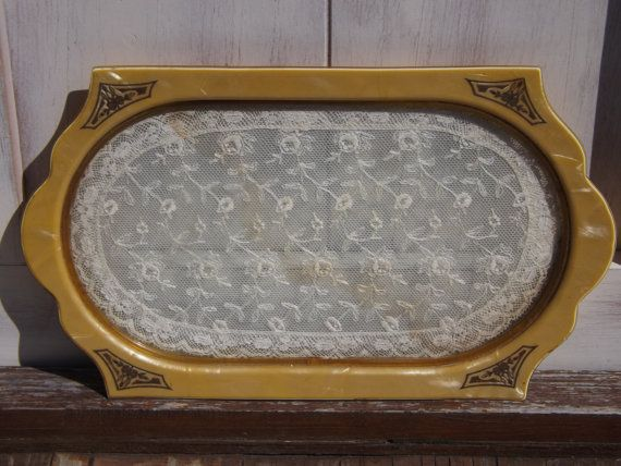 Vintage Celluloid Vanity Tray Dresser By Upcycleddreams On Etsy