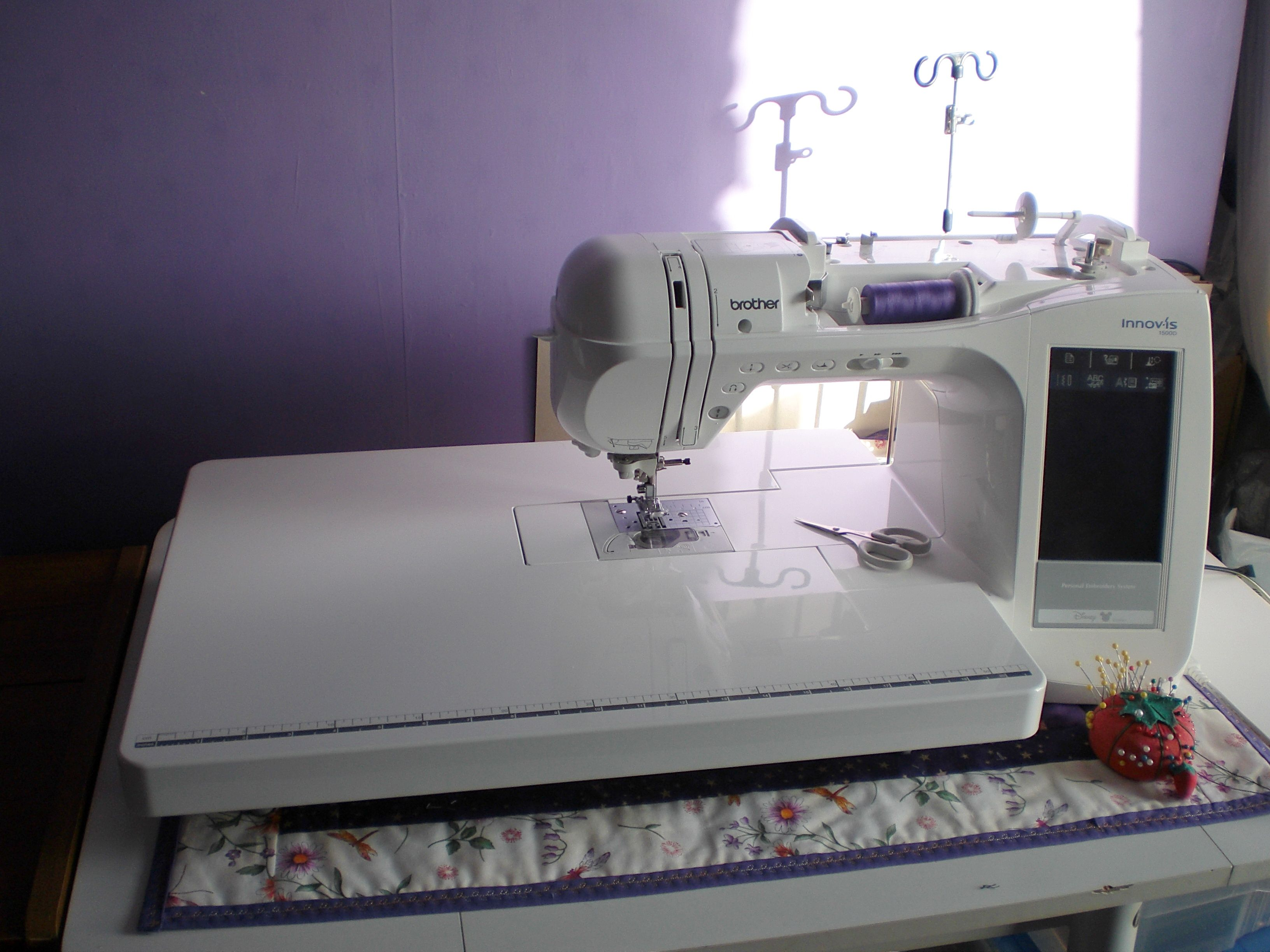 My Brother Innovis 1500d all set up for sewing, with the extension ...