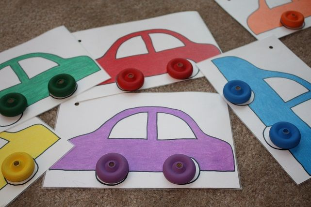 Color Wheel Matching Color Wheels Motor Skills And Matching Games