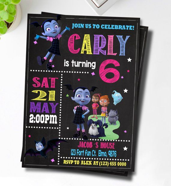 Vampirina Invitation Birthday Printable Invite Party Va