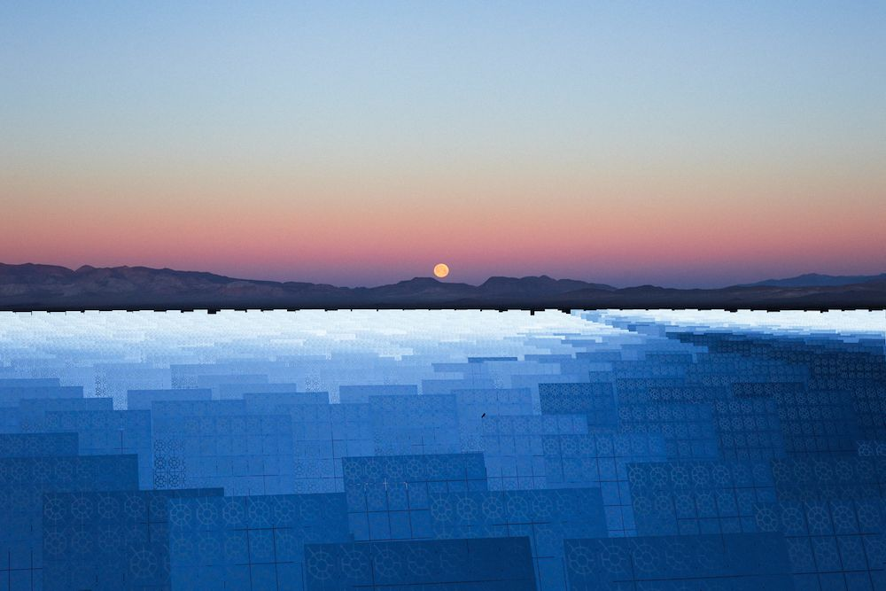 Reuben Wu photographs solar mirrors in Nevada