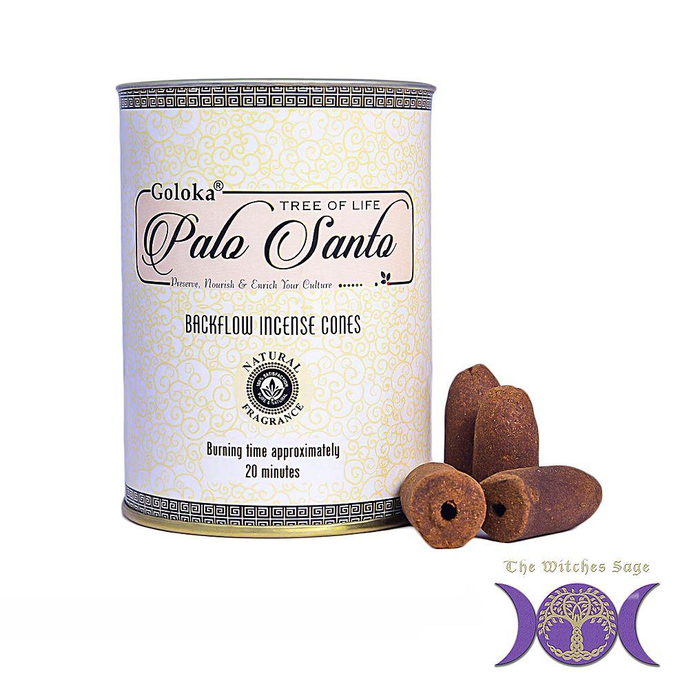 Goloka palo santo backflow incense cones in 2020 incense