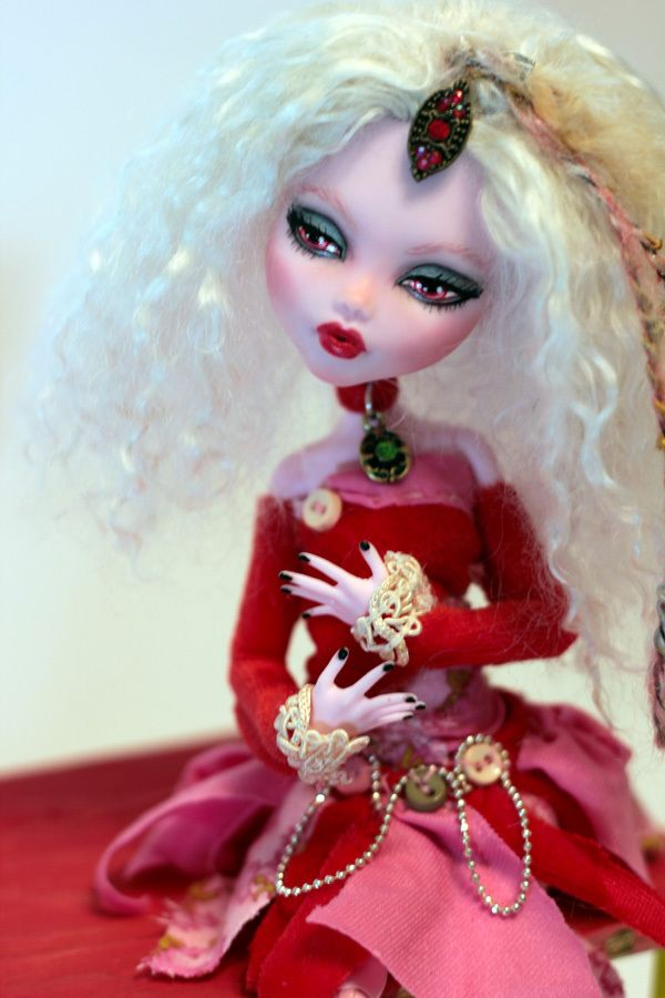 OOAK Fantasy Monster High Repaint Mary Fairy Art Doll Victorian Patchwork Emo | eBay