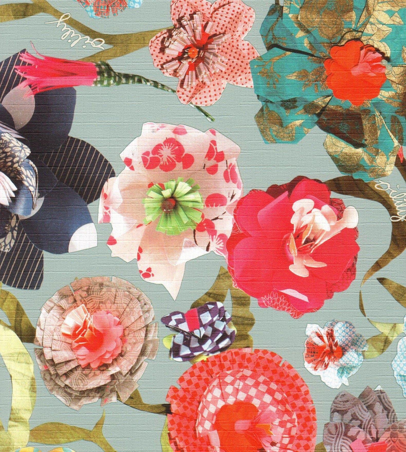 Oilily behang flowers 96121 2 online te bestellen bij oilily paper flowers behang oilily van as creation dhlflorist Image collections