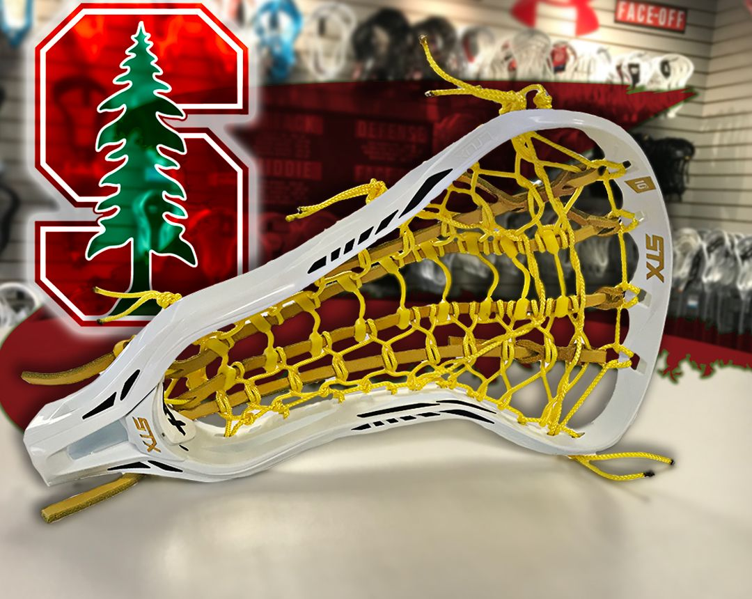 Custom Strung Crux 600 With Rail Elite Pocket For The Lady Laxer S At Stanford University Stanford Stanfordtree Lacrosse Girls Lacrosse Gear Womens Lacrosse