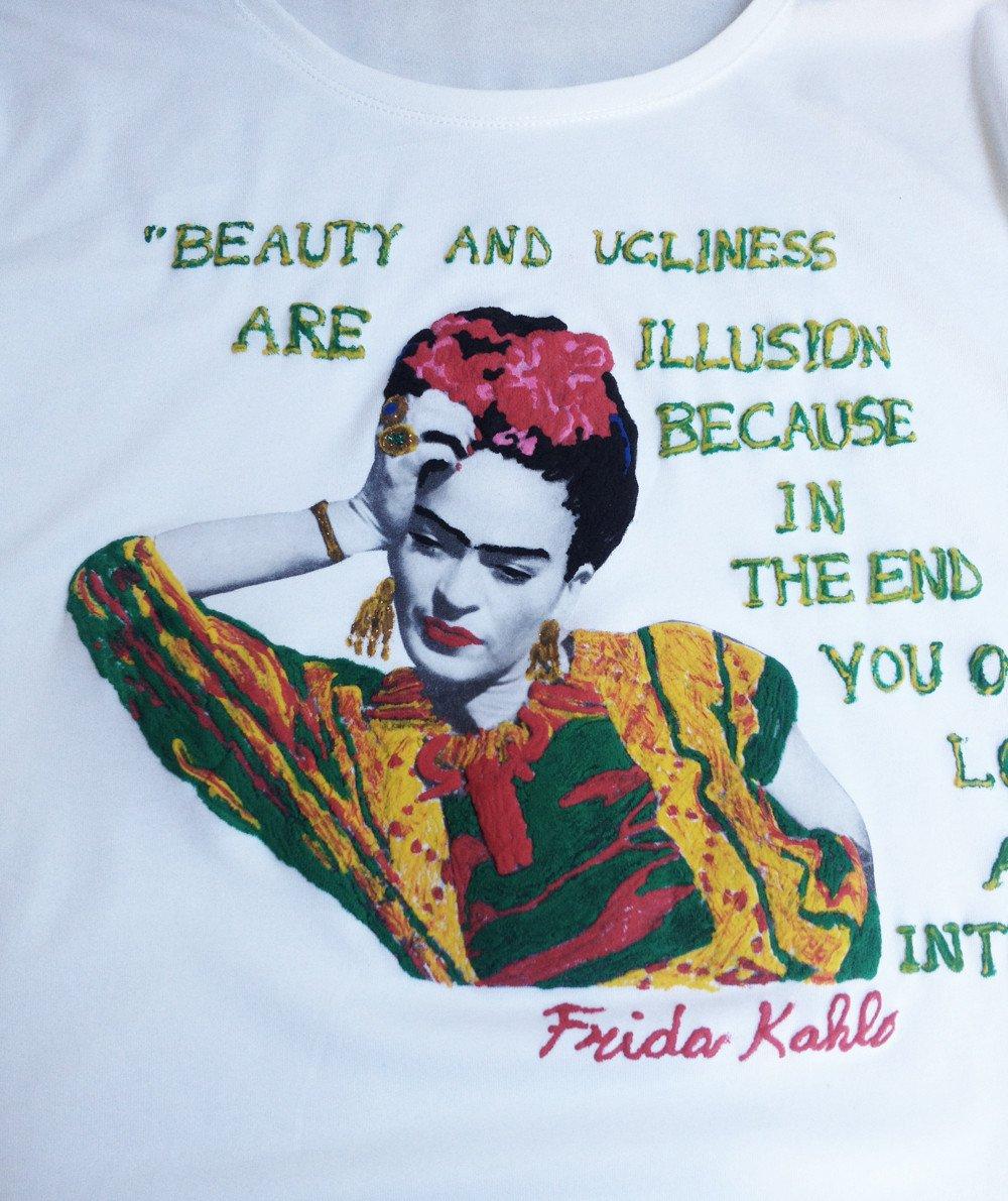 2bfa5953c Frida Kahlo T-shirt Frida Tshirt Frida Kahlo Art to wear Painted Tshirt -  Quortshirts
