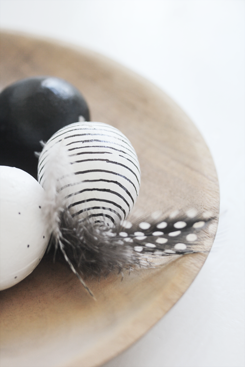 zwartwitte eieren
