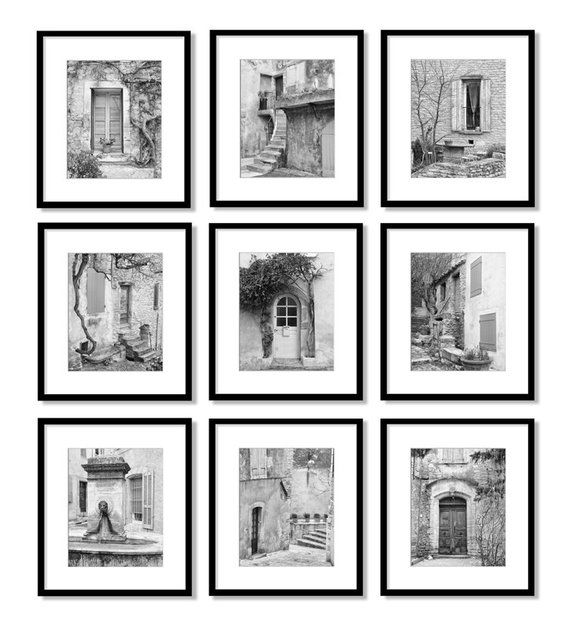 Black And White Photography Gallery Wall Art Set Europe Doors Etsy In 2020 French Country Decorating Modern Farmhouse Decor Country Farmhouse Decor