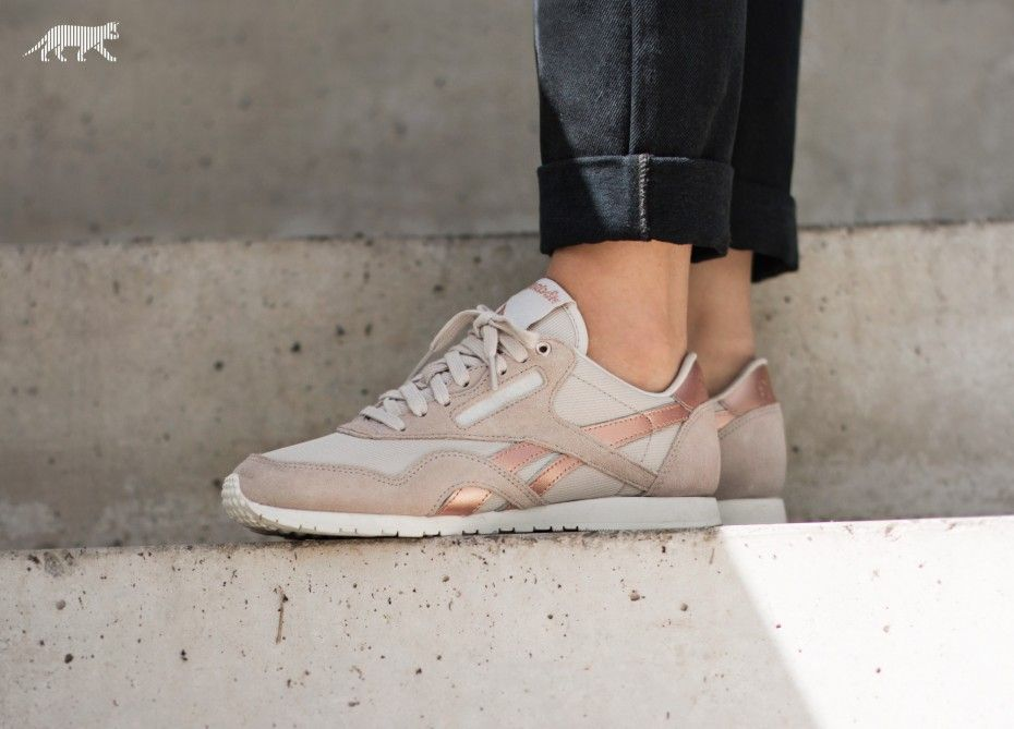 cheaper 287a1 ca10f Reebok Classic Nylon Slim *Metallics* (Stucco / Chalk / Rose ...
