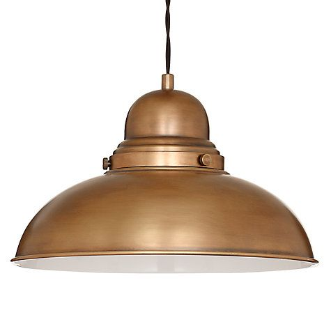 Buy John Lewis Antonio Lamp, Brass, 1 Light Online at johnlewis.com ...