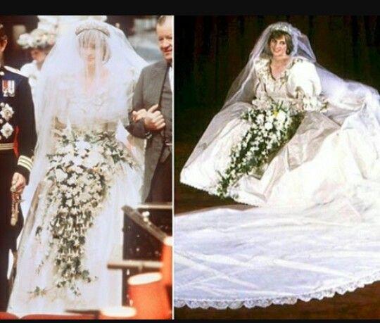 Princess Diana wedding dress... | Diana & Charles Engagment,Wedding ...