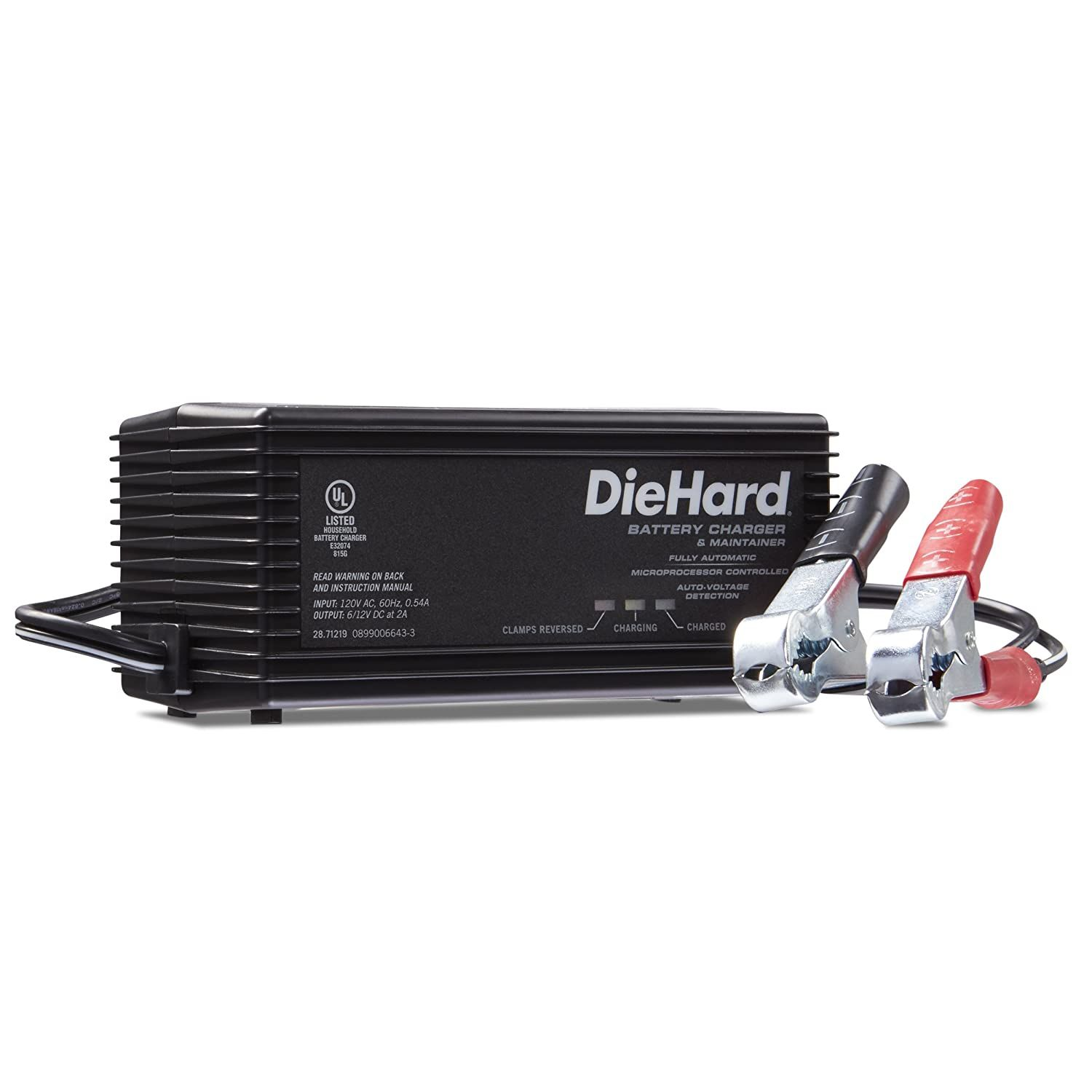 Diehard 71219 6 12v Shelf Smart Battery Charger And 2a Maintainer Click Image For More Details This I Car Battery Charger Car Battery Best Battery Charger