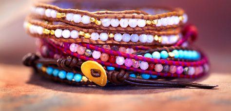 Adorable braceletes by Chan Luu