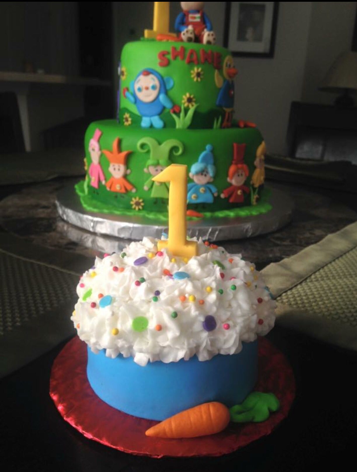 Harry The Bunny Smash Cake Baby first birthday cake
