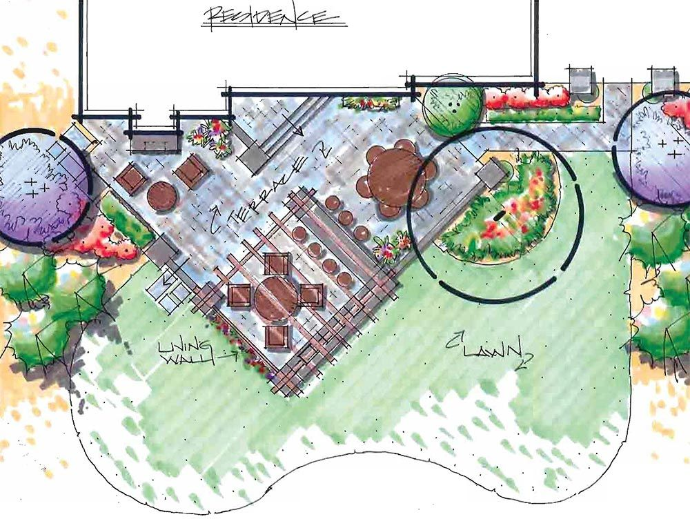residential design with outdoor kitchen pergola landscape plans landscape design landscape on outdoor kitchen plans layout id=23598