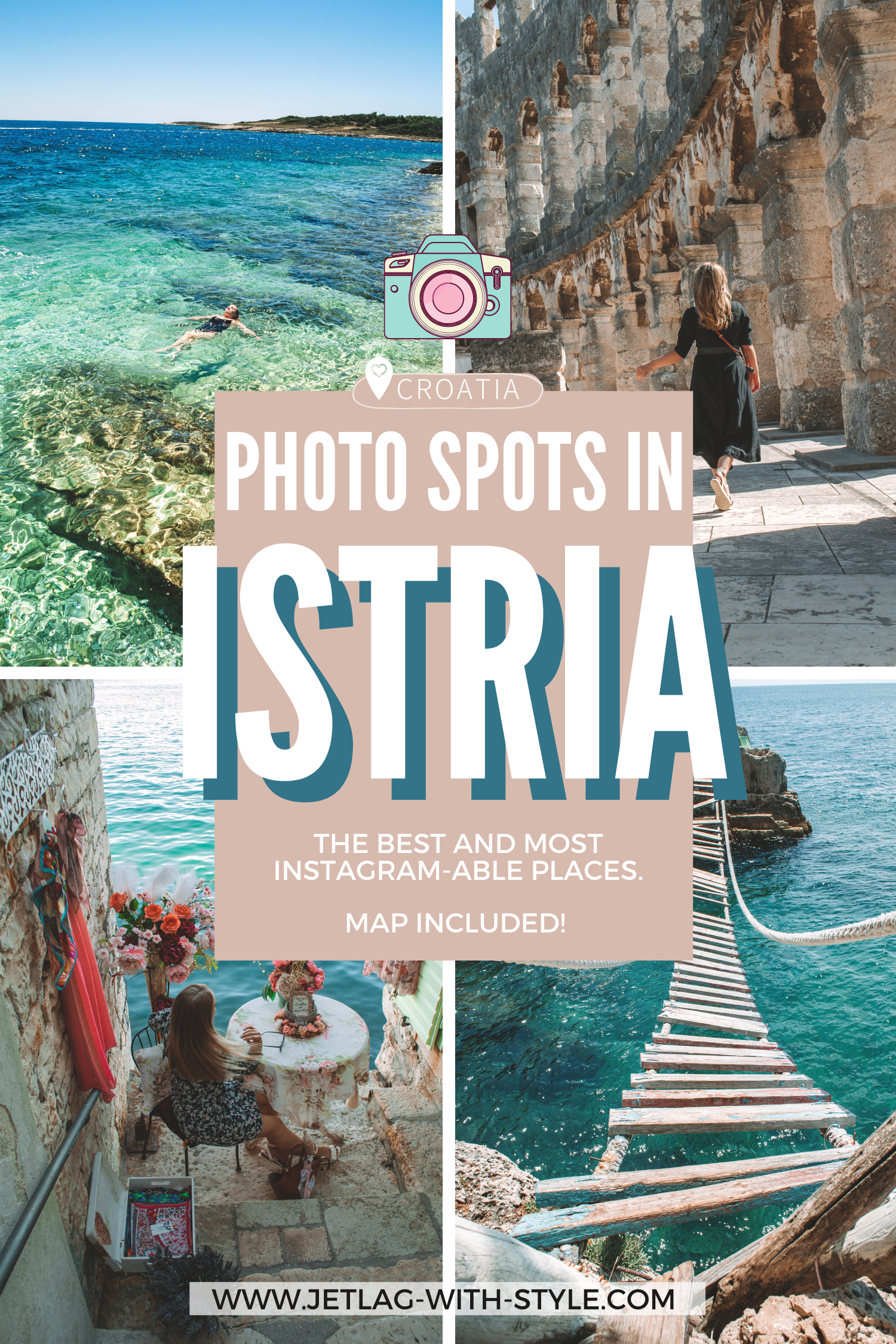 Let's be honest, we all love having great pictures, especially while traveling. Since visual content creation is on such a high and everyone is looking for the great, unique spots, I thought I'd put together some of the best Photo spots in Istria, Croatia. They're so instagrammable, for sure! Enjoy recreating :) Istria / Istria Croatia / Instagram Travel / Photo Travel / Instagrammable places / photography spots /where to take pictures in Istria / Istrien / Roadtrip / Fotospots / Photo Locations