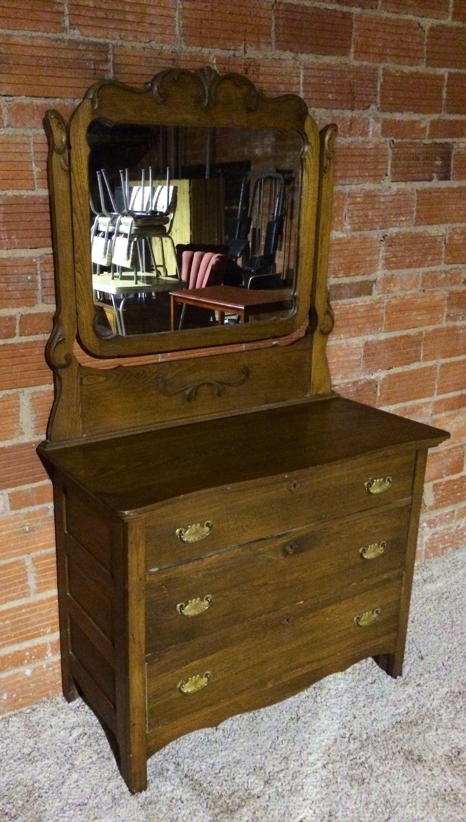 Antique oak dresser with mirror dresser with mirror oak