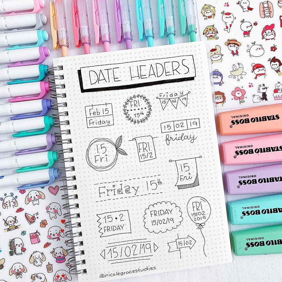 New Date Header That You Can Use In Your Bullet Journal Or