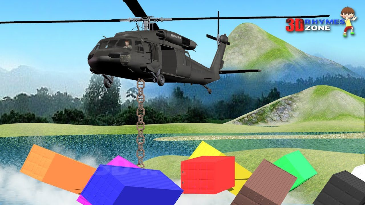 Helicopter Colors Lesson | Teach colors | Nursery Kids Learn Colors ...