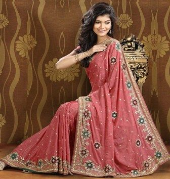 Beautiful Red Bridal Saree For Brides