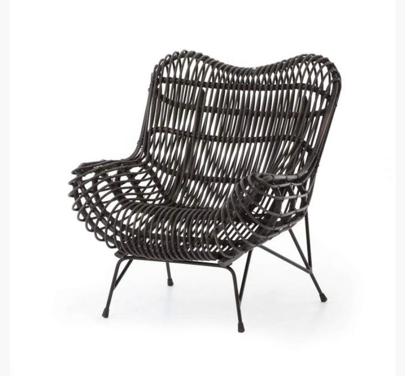 Theory Wicker Occasional Chair — France & Son#chair #france #occasional #son #theory #wicker