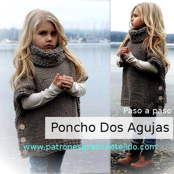 tutorial poncho tejido con palitos | DIY | Pinterest | Ponchos ...