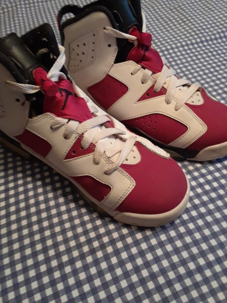 pretty nice 78f47 261d5 ... norway nike air jordan vi 6 retro carmine bg gs size 6y fashion  clothing 98916 cf75d