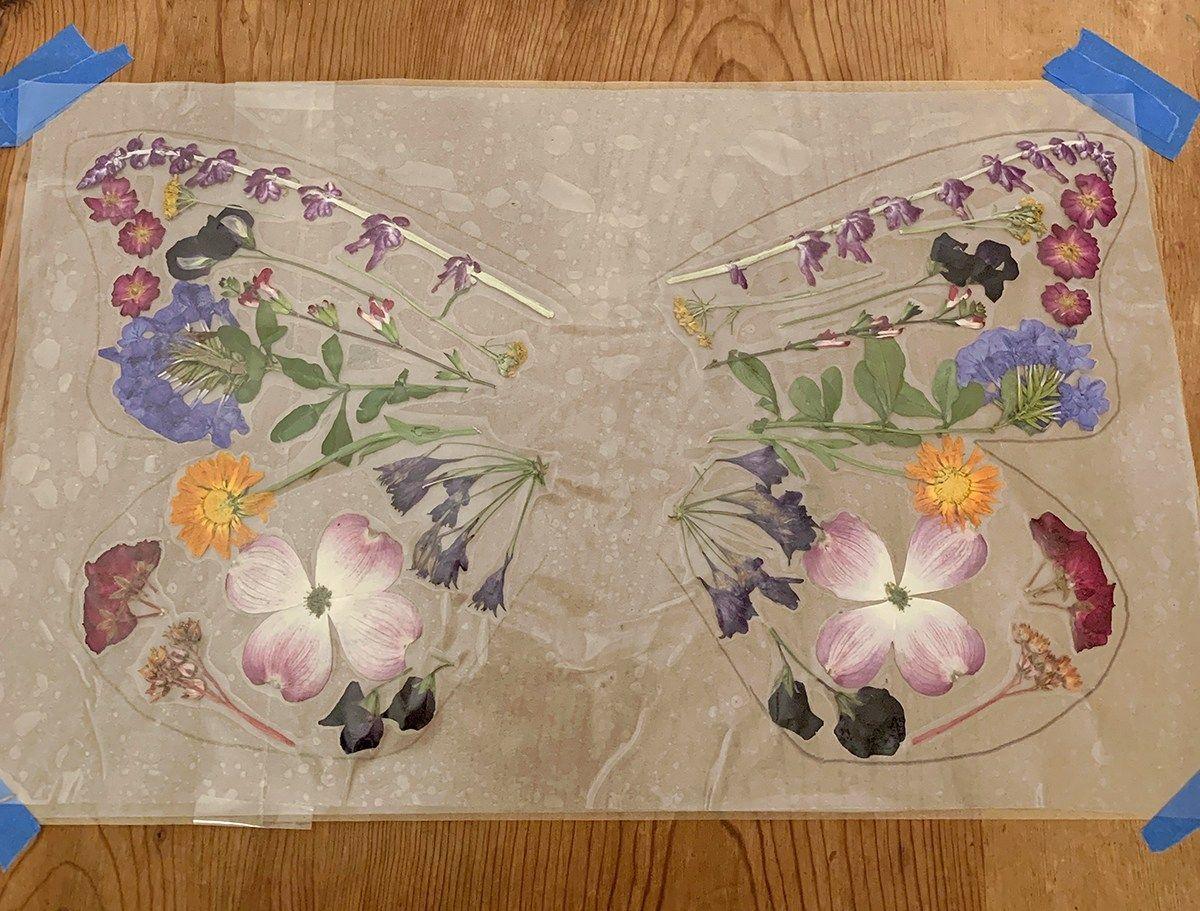 DIY Flower Butterfly Wings