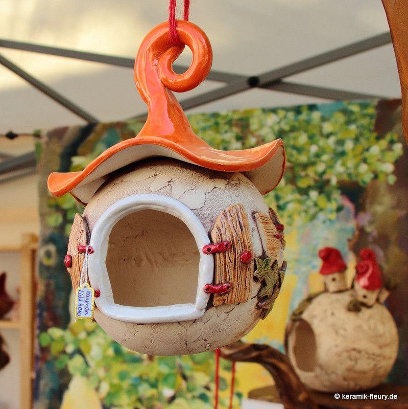 Steffis Wichtelwelt - Keramik Häuschen für Haus und Garten - haus und garten