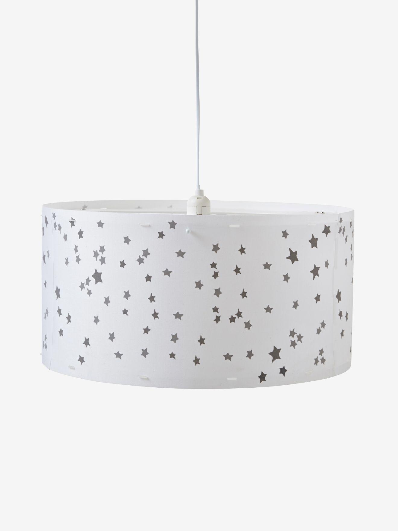 Vertbaudet Großer Lampenschirm für Kinderzimmer in weiß/sterne ...