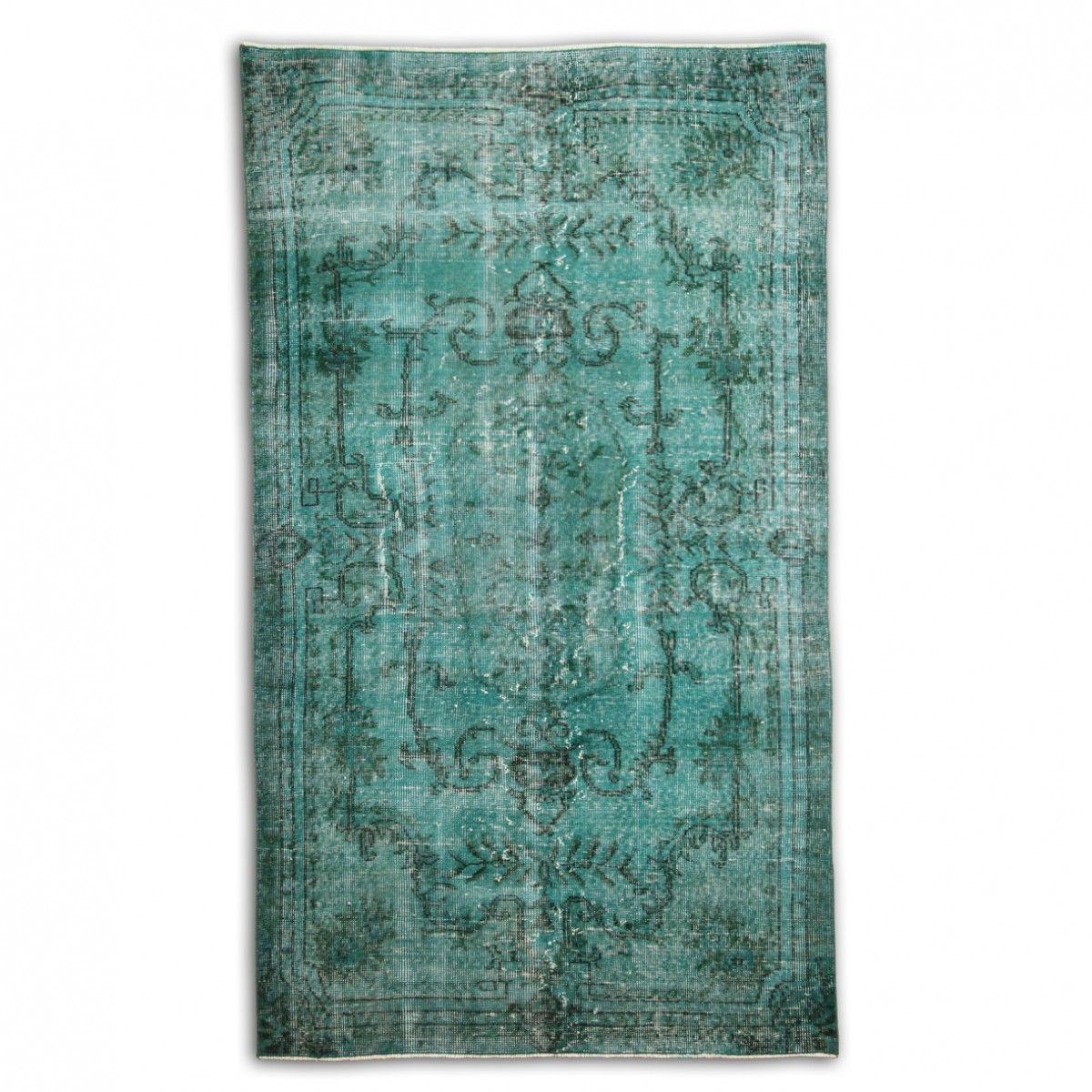 Antique Green Over Dyed Carpet By Vintagekilimrug On Etsy