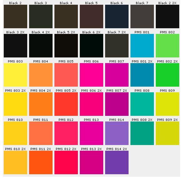 Pantone Color Charts  Palettes    Pantone Color Chart