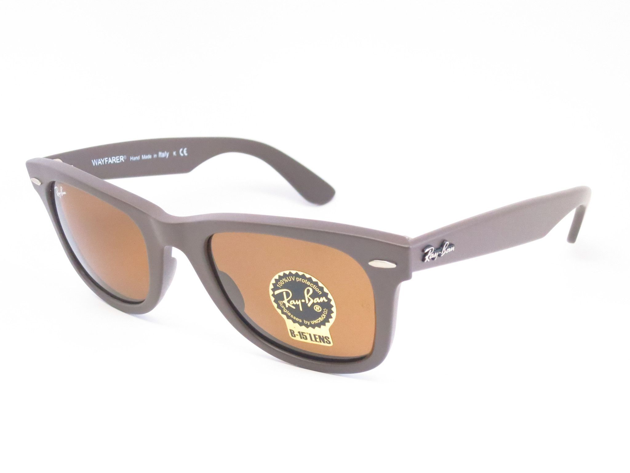 2893343867 Ray-Ban RB 2140 Original Wayfarer 889 Matte Brown Sunglasses