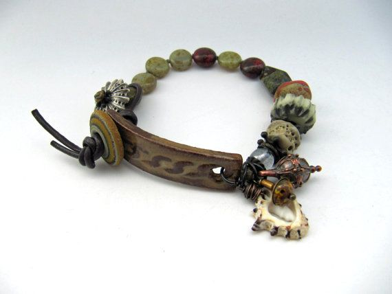 Down By The Water handmade bracelet with by somethingtodo on Etsy