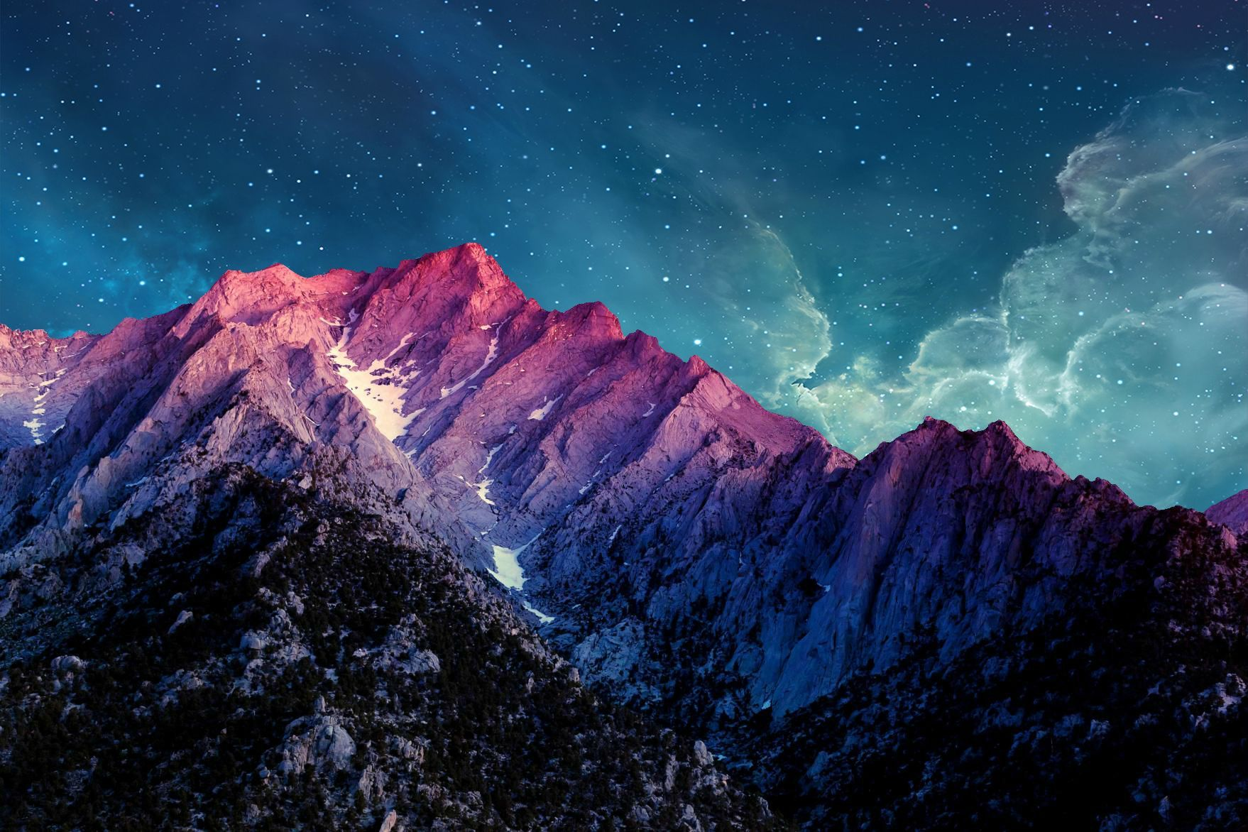 Starry Mountains 1758 X 1172 R Wallpapers Landscape Wallpaper Mountain Wallpaper Android Wallpaper